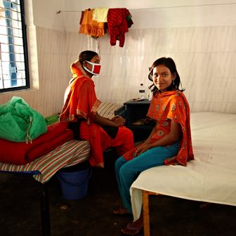 Patients in The Damien Foundation's Bangladesh clinic