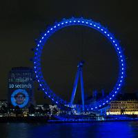 The London Eye lit up for World Diabetes Day